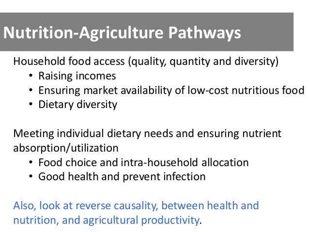 ICN2-Agricultural Pathways to Improved Nutrition