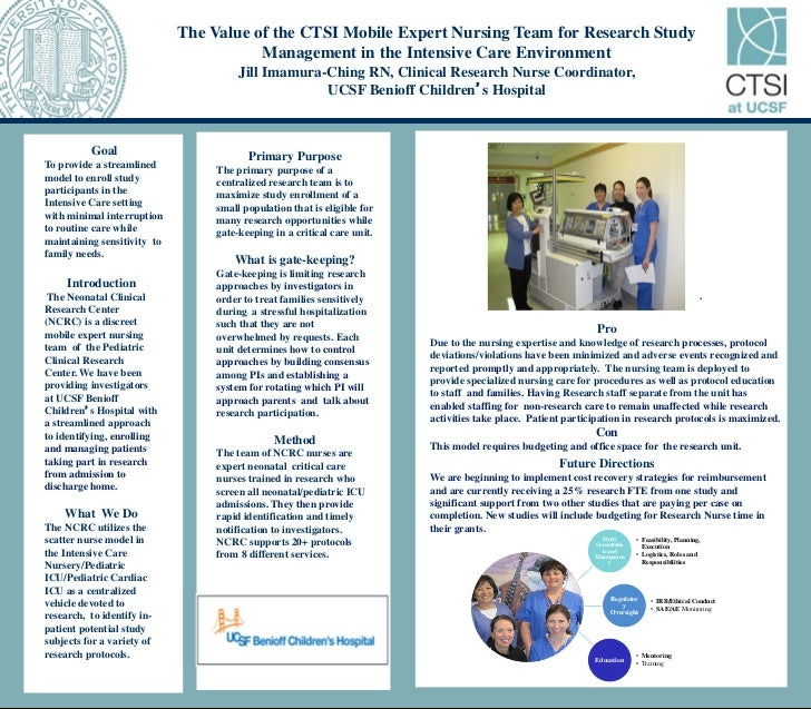 The Value of the CTSI Mobile Expert Nursing Team for Research Study                                        Management in t...