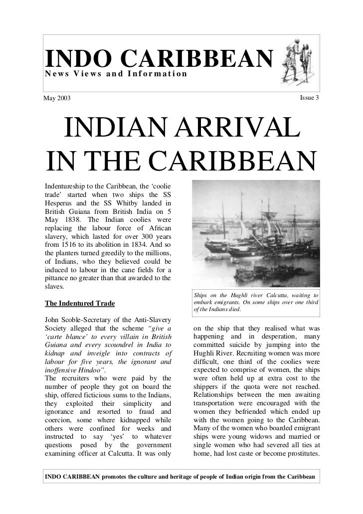 INDO CARIBBEANNews Views and InformationMay 2003                                                                          ...