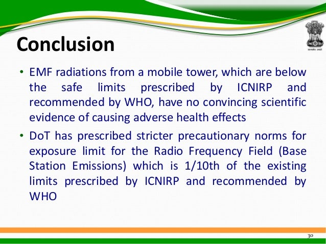 Inter-Ministerial R&D for EMF radiation guidelines