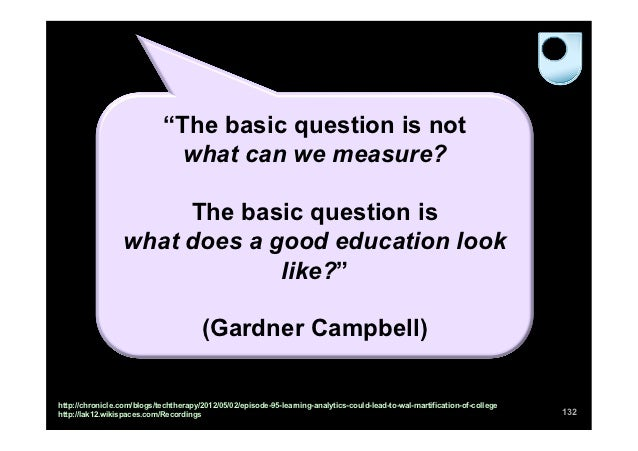 """""""The basic question is not                              what can we measure?                       The basic question is  ..."""