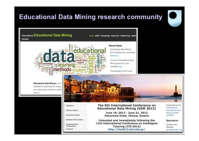 Educational Data Mining research community