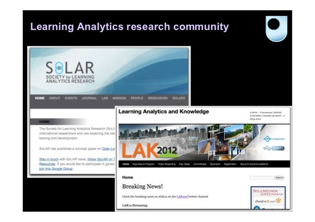Learning Analytics research community