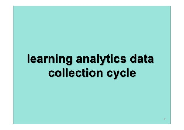 learning analytics data    collection cycle                          21