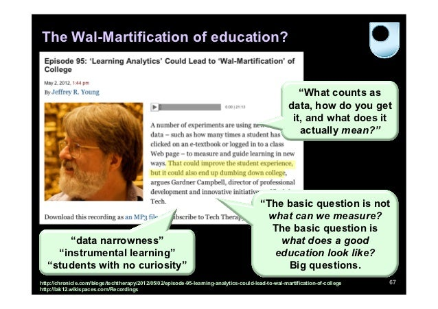 The Wal-Martification of education?                                                                                       ...