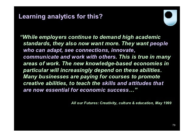 """Learning analytics for this?""""While employers continue to demand high academic standards, they also now want more. They wan..."""