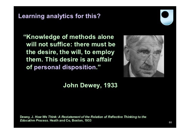 """Learning analytics for this?  """"Knowledge of methods alone   will not suffice: there must be   the desire, the will, to emp..."""