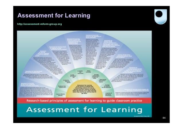 Assessment for Learninghttp://assessment-reform-group.org                                     84