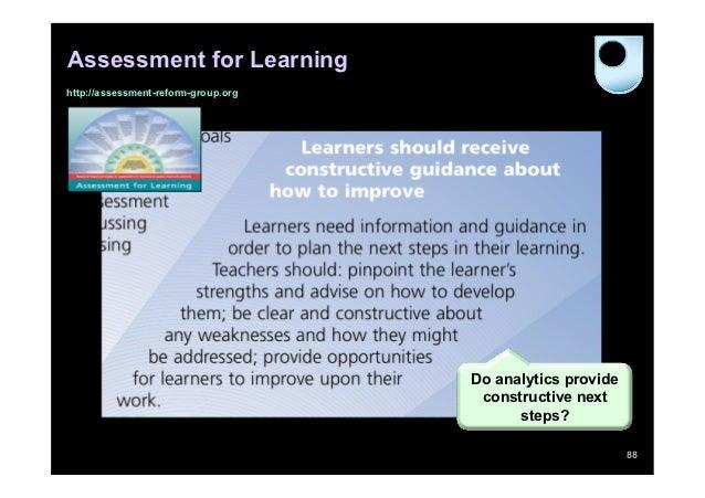 Assessment for Learninghttp://assessment-reform-group.org                                     Do analytics provide        ...
