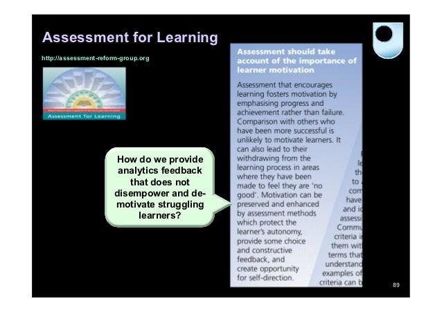 Assessment for Learninghttp://assessment-reform-group.org                      How do we provide                       ana...