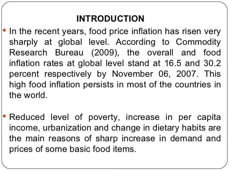 Food Inflation Essay - 368 Words - studymode.com