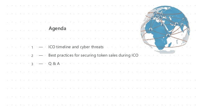 Agenda ― ICO timeline and cyber threats ― Best practices for securing token sales during ICO ― Q & A 1 2 3