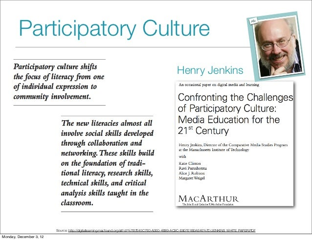produsage and participatory culture This article develops a critical alternative to the common equation between participatory culture  participatory culture and the new governance  produsage  new.