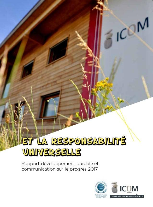 Rapport développement durable et communication sur le progrès 2017