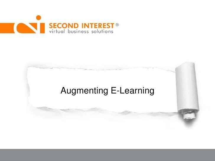 Augmenting E-Learning<br />