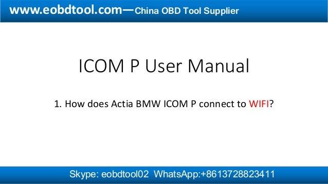 Actia ICOM P Wifi Configuration Guide
