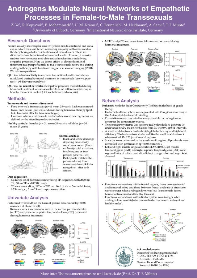 Androgens Modulate Neural Networks of EmpatheticProcesses in Female-to-Male TranssexualsZ. Ye1, R. Kopyciok1, B. Mohammadi...