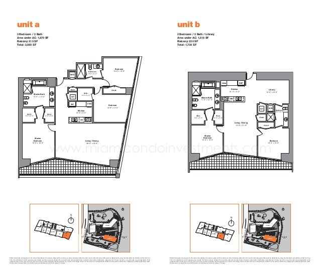Icon Brickell Tower 2 Floor Plans