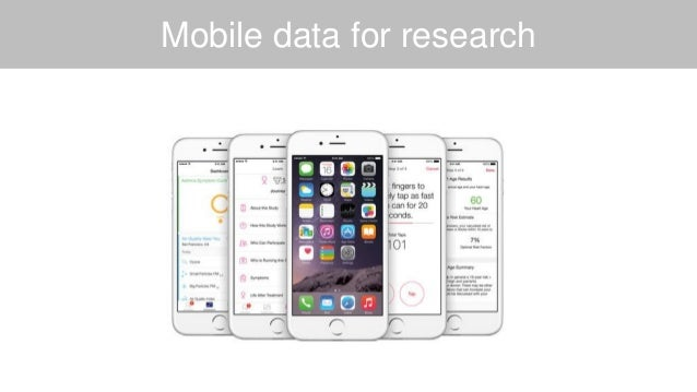 Mobile data for research