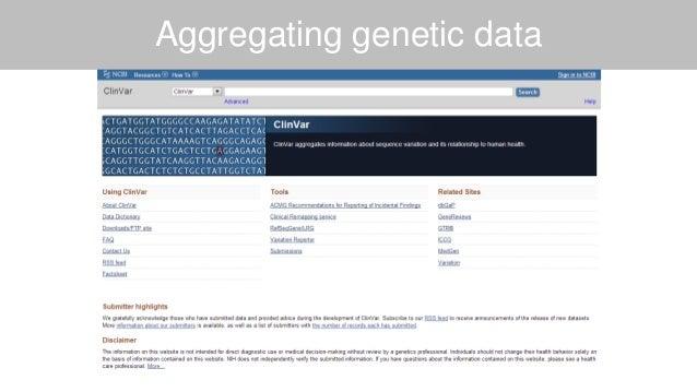 Aggregating genetic data