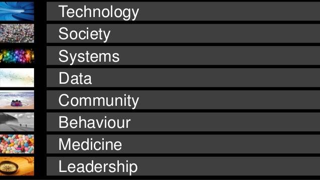 Technology Leadership Medicine Society Systems Behaviour Data Community