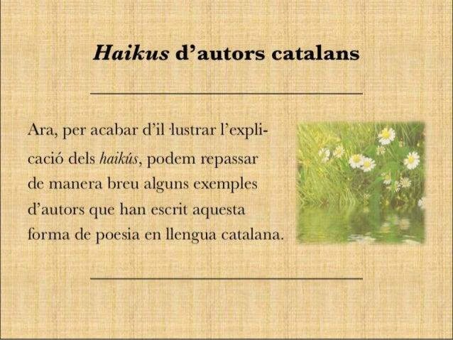I Concurs de haikús Bosc Montjuïc