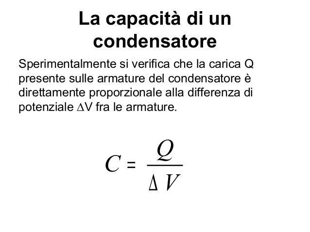 condensatore formule