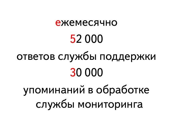 Как Яндекс работает с отзывами на сервисы компании в социальных медиа Slide 3