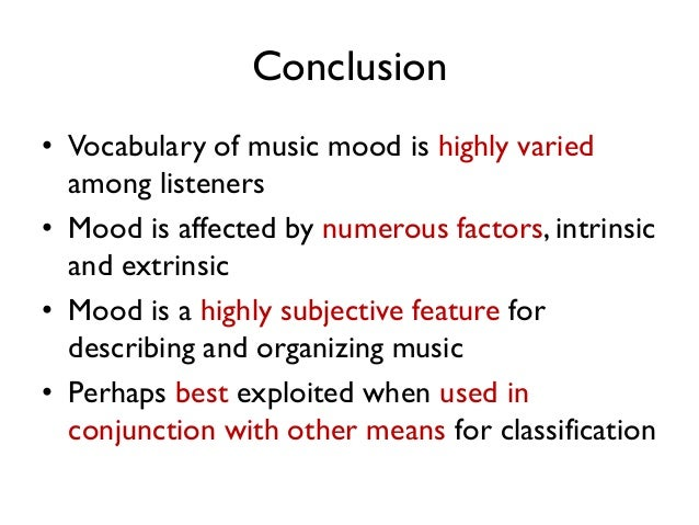What Does Music Mood Mean For Real Users