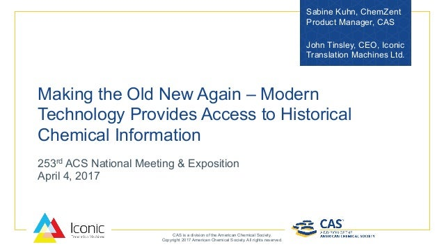 Making the Old New Again - Modern Technical Provides Access to Histor…