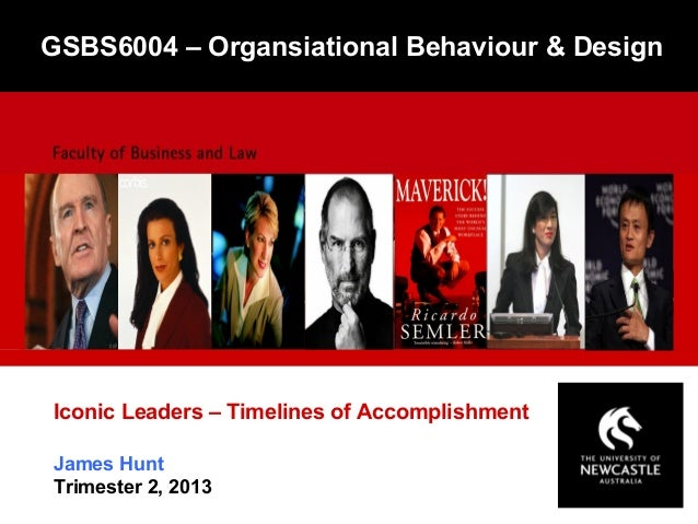 James HuntTrimester 2, 2013Iconic Leaders – Timelines of AccomplishmentGSBS6004 – Organsiational Behaviour & Design