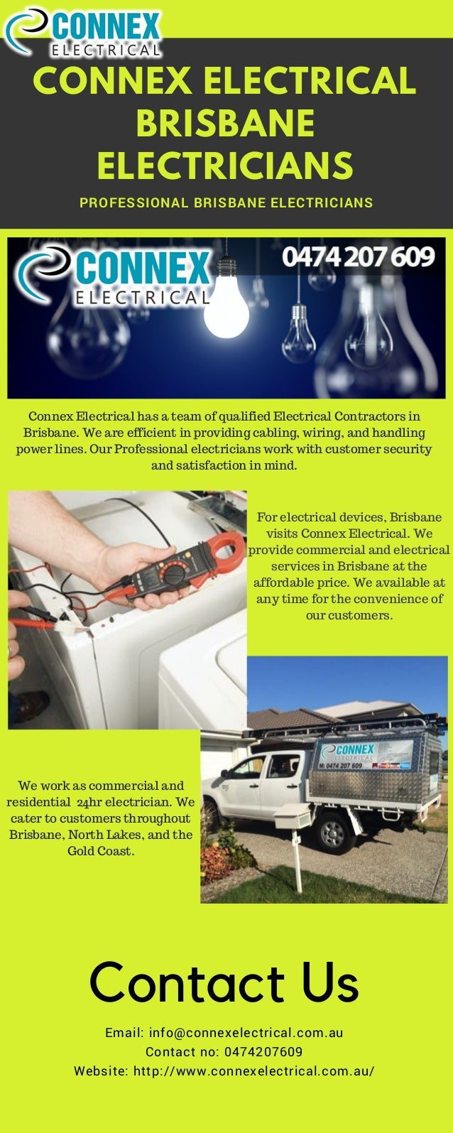 24hr Electrician Commercial Motor Wiring Professional Brisbane Electricians Connex Electrical Has A Team Of Qualified Elect