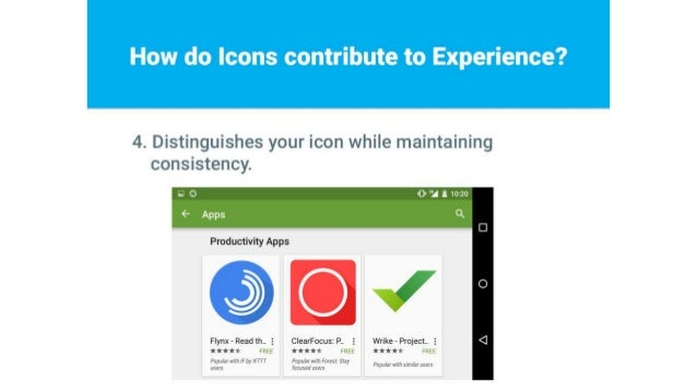 4. Distinguishes your icon while maintaining consistency.   AU» '2 1 1020     Productivity Apps       Flynx - Read th. . 5...