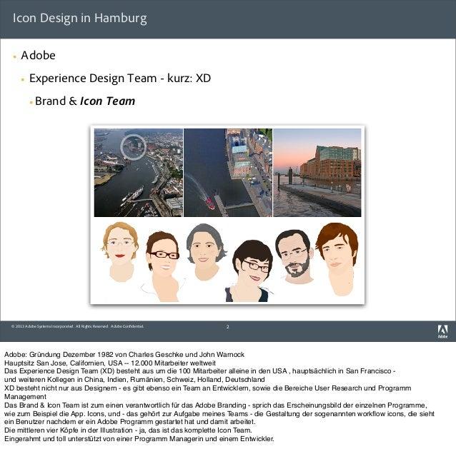 IxDA HH Event: Einblick in die Icon-Entwicklung für alle (!) Adobe Produkte  Slide 2