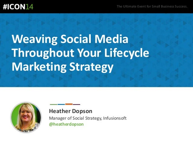 The Ultimate Event for Small Business Success. Weaving Social Media Throughout Your Lifecycle Marketing Strategy Heather D...