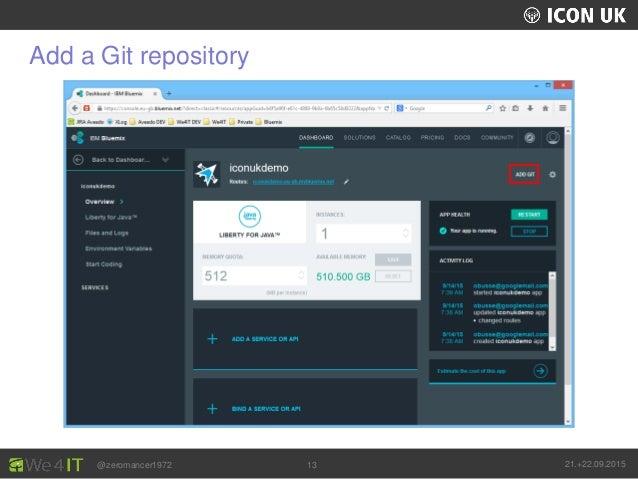 UKLUG 2012 – Cardiff, Wales @zeromancer1972 21.+22.09.201513 Add a Git repository