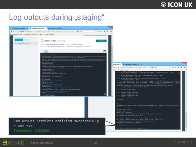 """UKLUG 2012 – Cardiff, Wales @zeromancer1972 21.+22.09.201527 Log outputs during """"staging"""""""