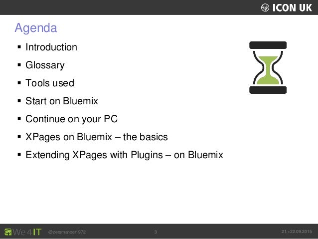 UKLUG 2012 – Cardiff, Wales @zeromancer1972 21.+22.09.20153 Agenda  Introduction  Glossary  Tools used  Start on Bluem...