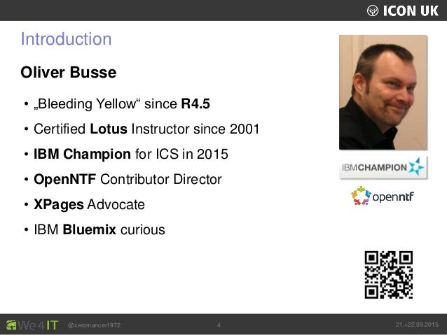 """UKLUG 2012 – Cardiff, Wales @zeromancer1972 21.+22.09.20154 Introduction Oliver Busse • """"Bleeding Yellow"""" since R4.5 • Cer..."""