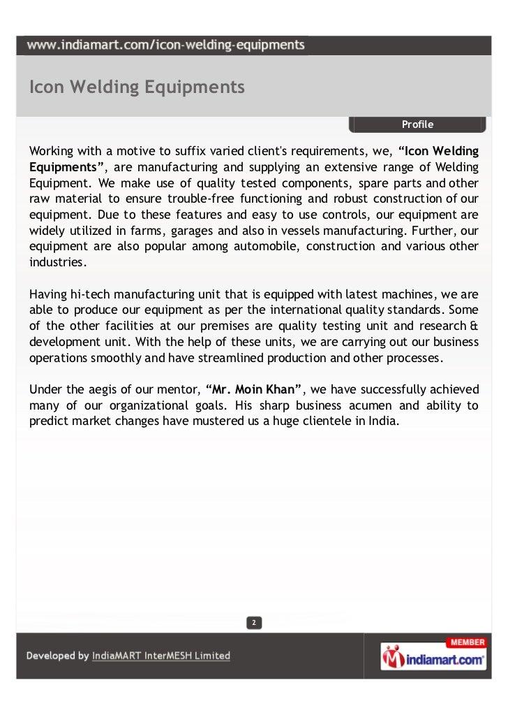 Icon Welding Equipments, Vadodara,  Welding Equipment Slide 2