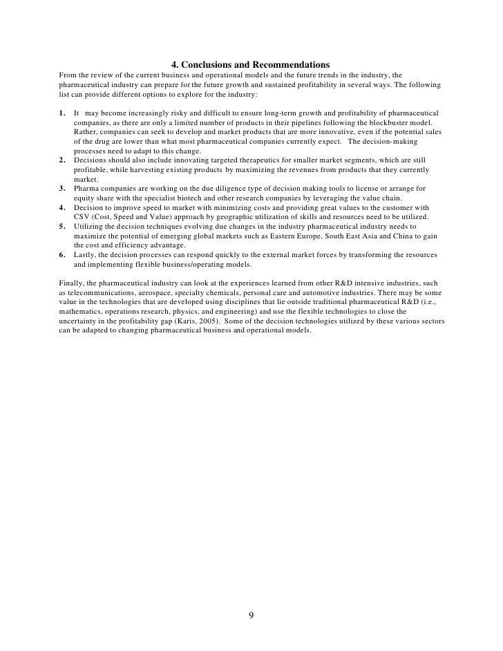 4. Conclusions and Recommendations From the review of the current business and operational models and the future trends in...