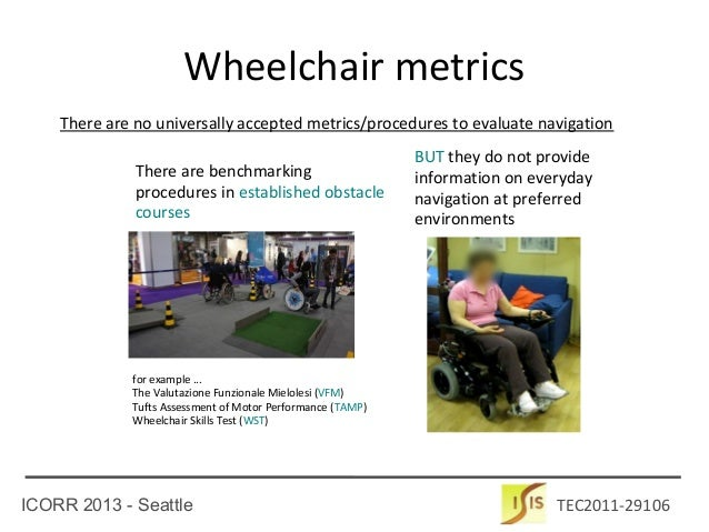 Metrics and Benchmarking for Assisted Wheelchair Navigation Slide 2