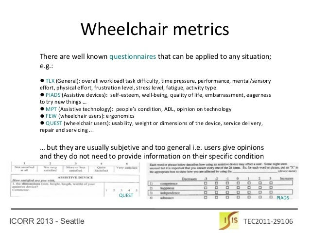Metrics and Benchmarking for Assisted Wheelchair Navigation Slide 3