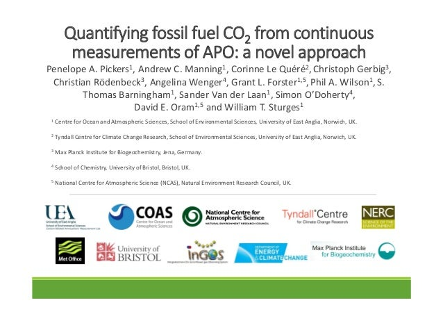 QuantifyingfossilfuelCO2 fromcontinuous measurementsofAPO:anovelapproach PenelopeA.Pickers1,AndrewC.Manning...