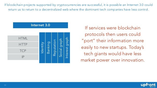 !11 If blockchain projects supported by cryptocurrencies are successful, it is possible an Internet 3.0 could return us to...