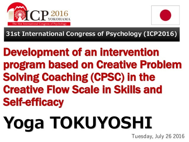 Development of an intervention program based on Creative Problem Solving Coaching (CPSC) in the Creative Flow Scale in Ski...