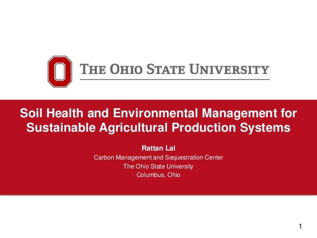 Soil health and environmental management for sustainable for Soil use and management