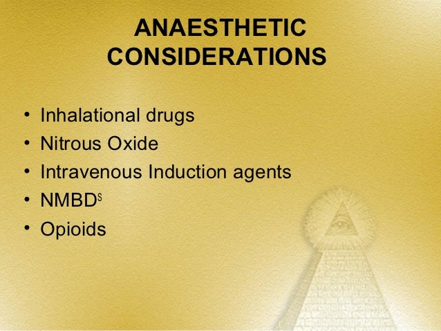 Intra cranial pressure and Anaesthesia by Prof. mridul M. Panditrao