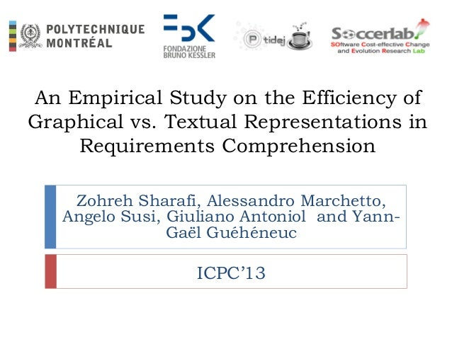 An Empirical Study on the Efficiency of Graphical vs. Textual Representations in Requirements Comprehension Zohreh Sharafi...