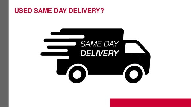 USED SAME DAY DELIVERY?